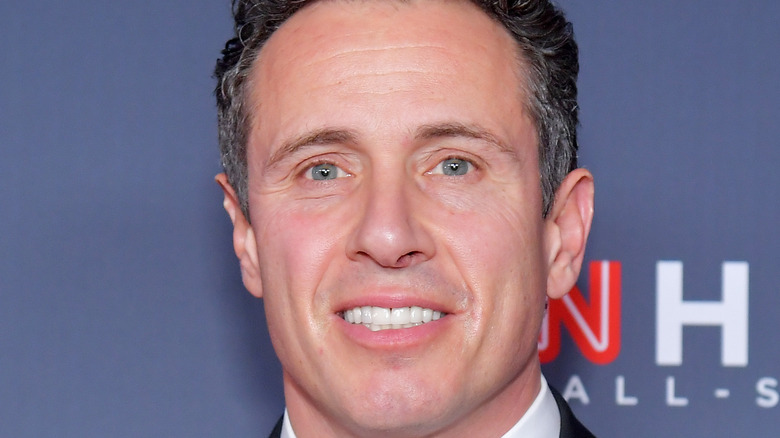 Chris Cuomo poses on the red carpet