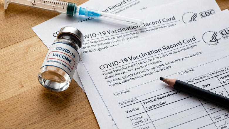COVID vaccination cards
