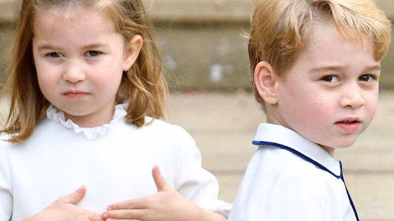 Princess Charlotte and Prince George looking cute