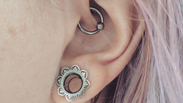 ear piercings in ear