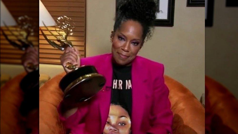 Regina King with her Emmy