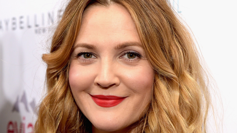 Drew Barrymore smiles at an event