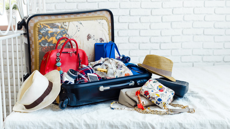 a packed suitcase