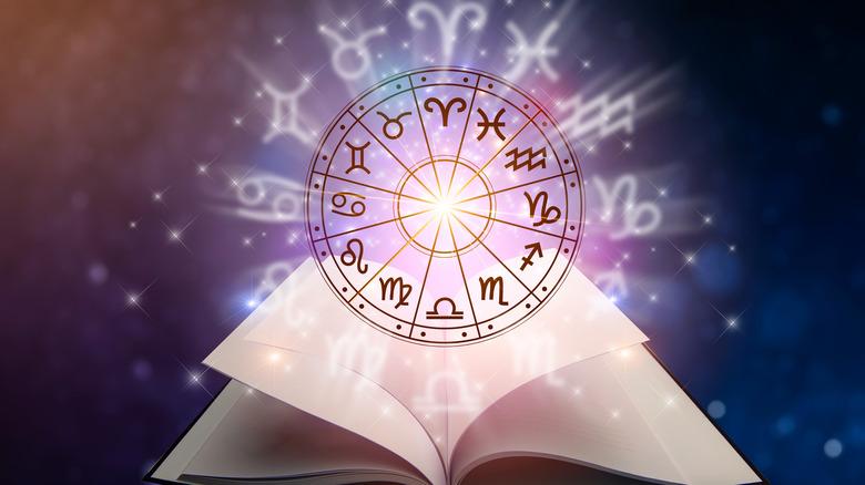 Zodiac wheel and book