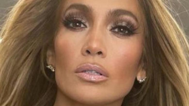 Jennifer Lopez posing hair blowing