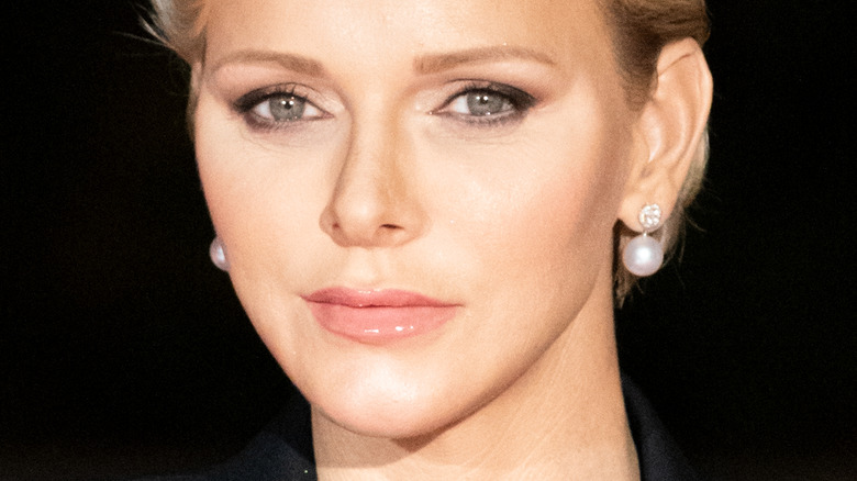 Princess Charlene of Monaco gazing