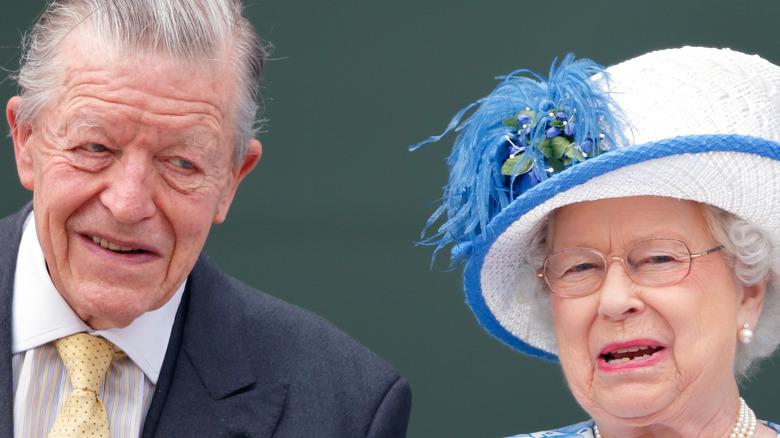 Sir Michael Oswald with Queen Elizabeth