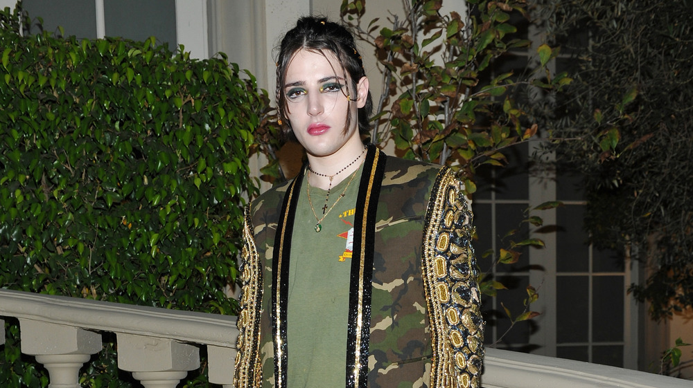 Harry Brant wears high fashion at event