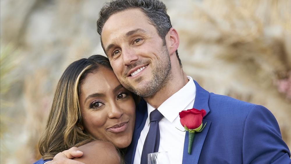 Tayisha Adams and Zac Clark embracing