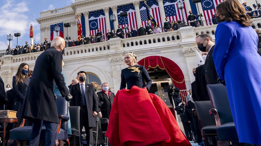 Lady Gaga at the inauguration