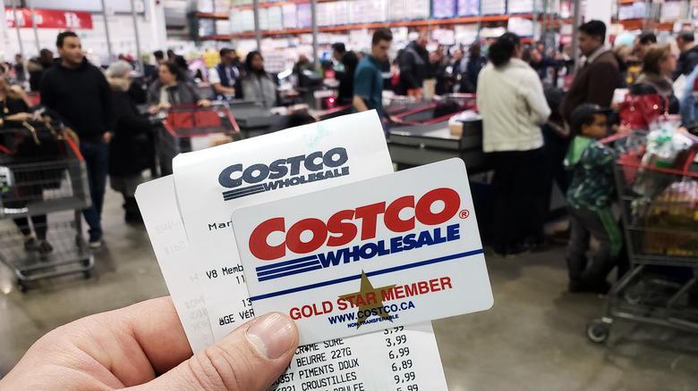 Costco membership and sales receipt