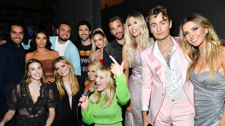 The cast of The Hills: New Beginnings smiling