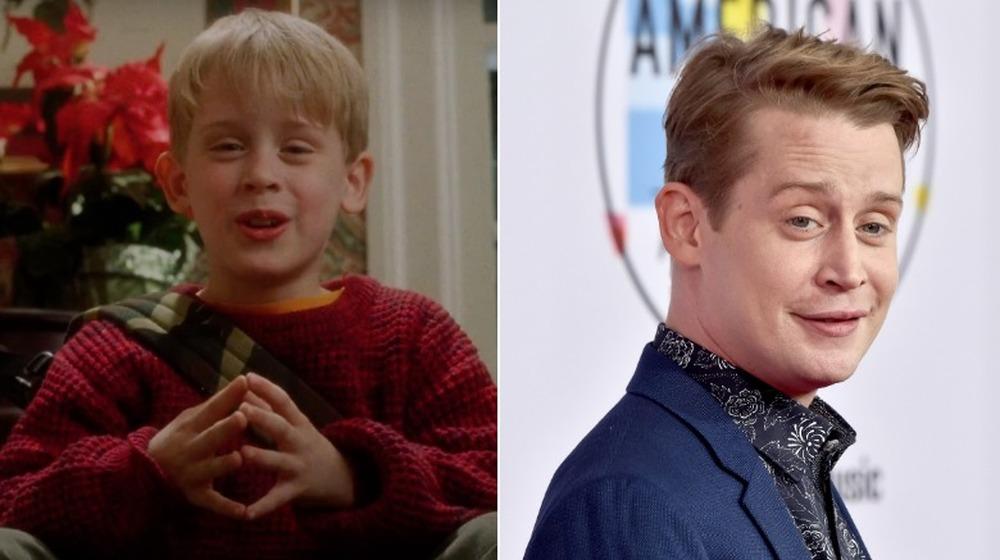 Macaulay Culkin in Home Alone; Macaulay Culkin at the American Music Awards