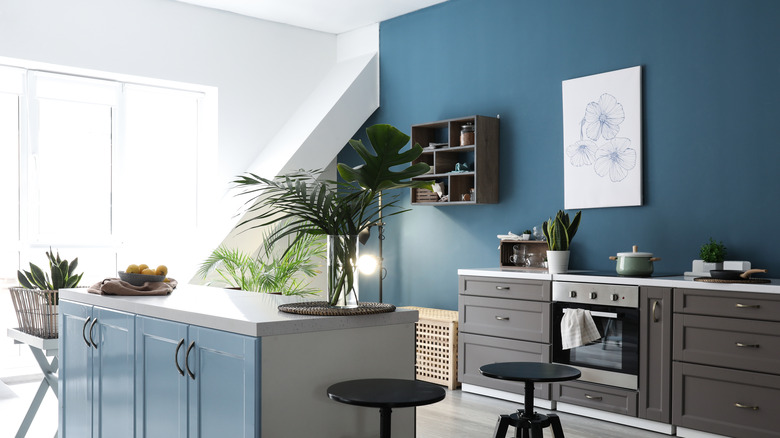 dark blue home decor
