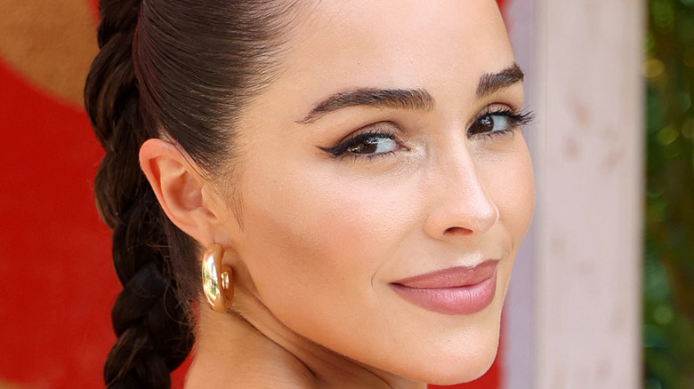 Olivia Culpo wearing hoop earrings