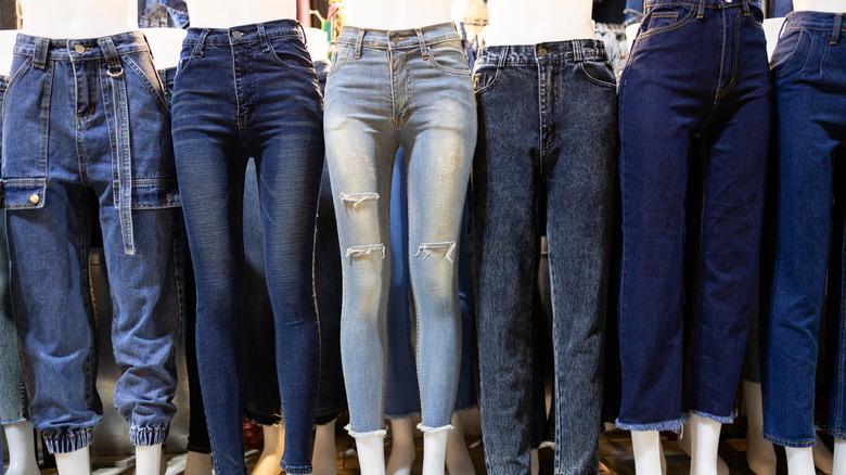 Variety of skinny jeans