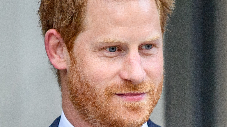 Prince Harry making a public appearance