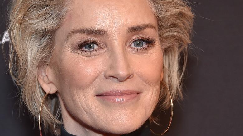 Sharon Stone smiling
