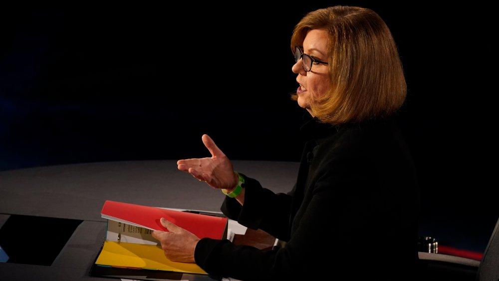 VP debate moderator, Susan Page