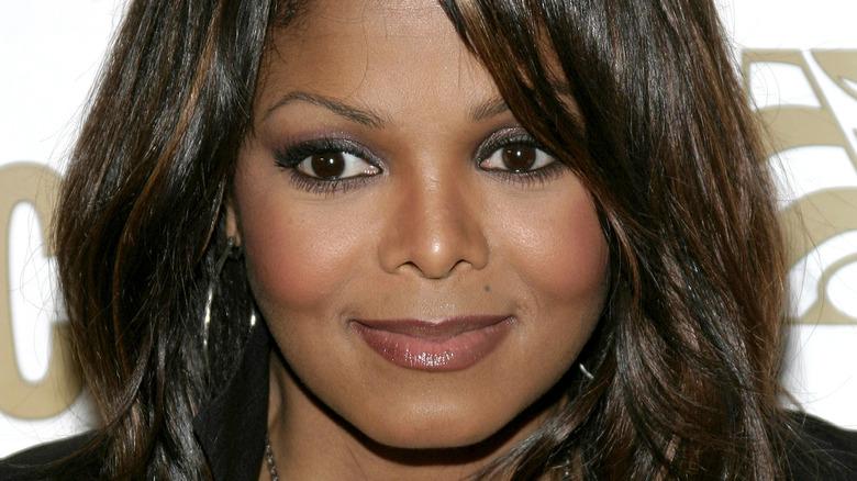 Janet Jackson looking away