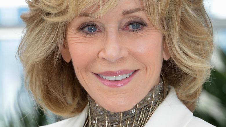 Jane Fonda in shag haircut