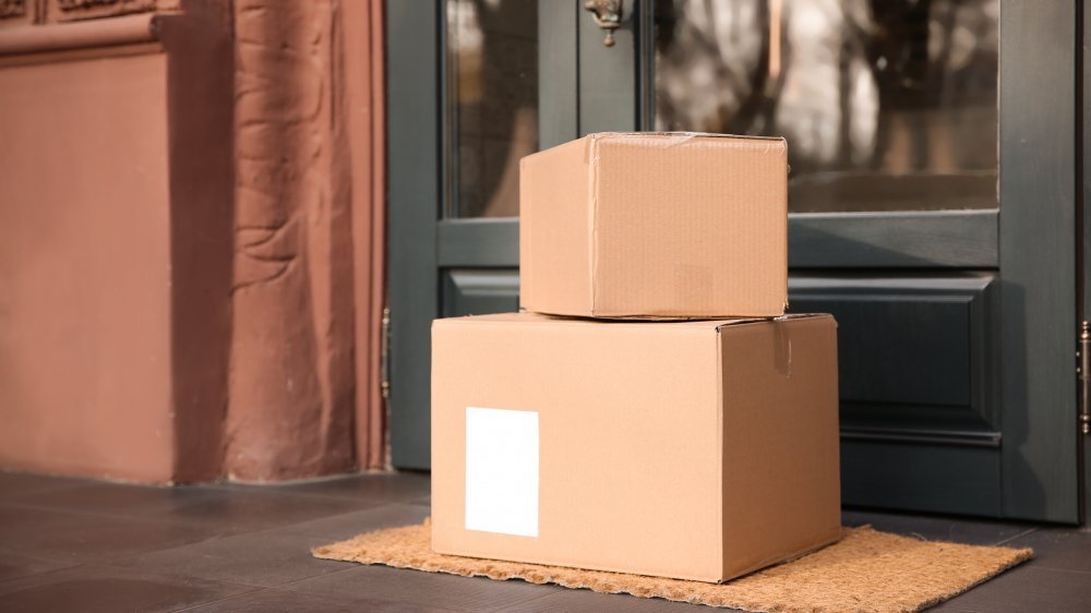 packages on a doorstep