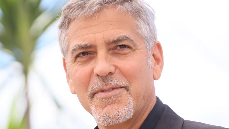 George Clooney looking up