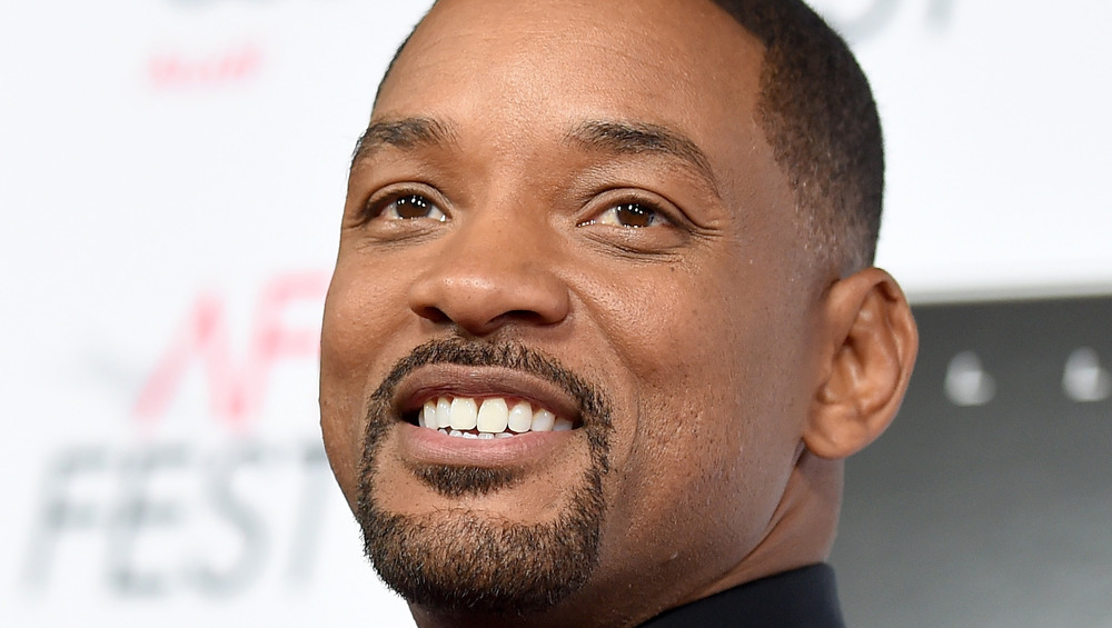 Will Smith smiling with facial hair
