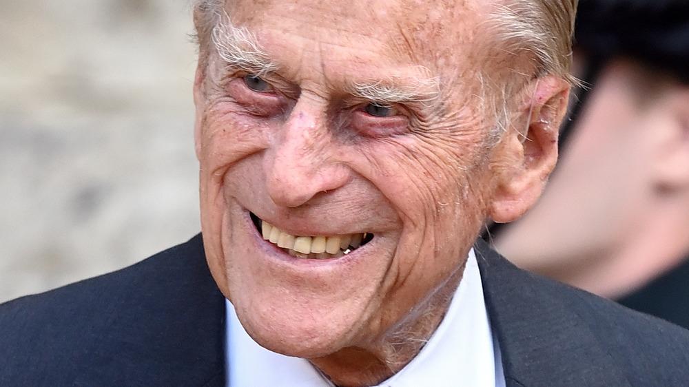Prince Philip smiling broadly
