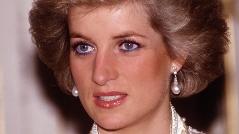Princess Diana with peal earrings