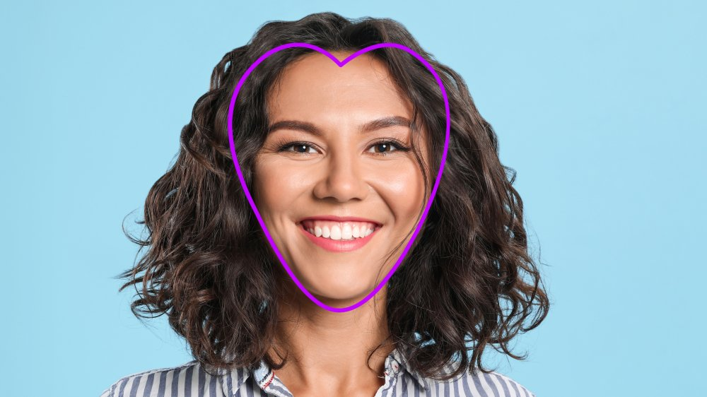 woman with heart face shape