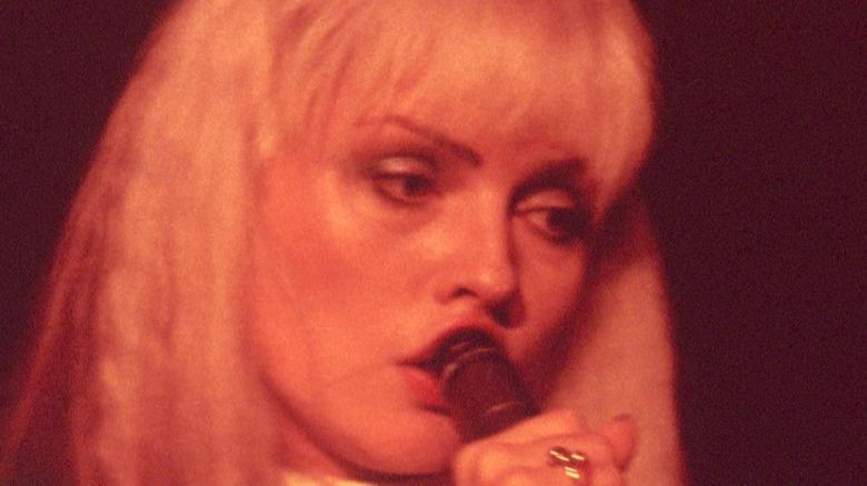 Debbie Harry performing in 1977