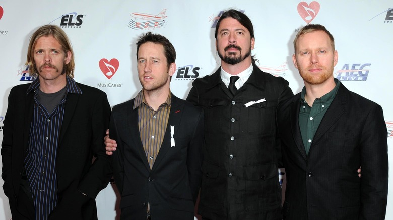 The Foo Fighters attending an event