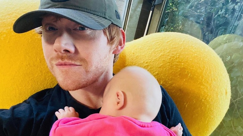 """Rupert (""""Ron Weasley"""") Grint with his new daughter"""