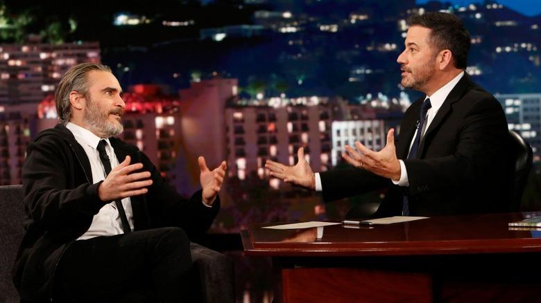 Joaquin Phoenix and Jimmy Kimmel on Jimmy Kimmel Live!