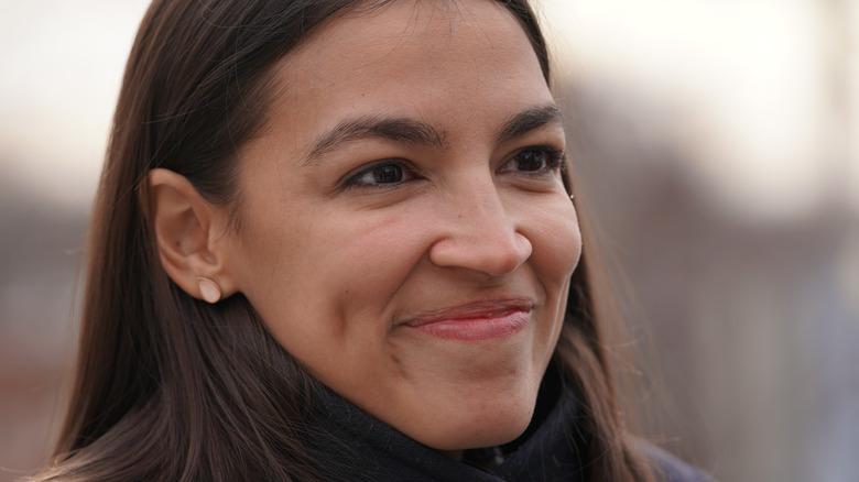 Alexandria Ocasio-Cortez smiling