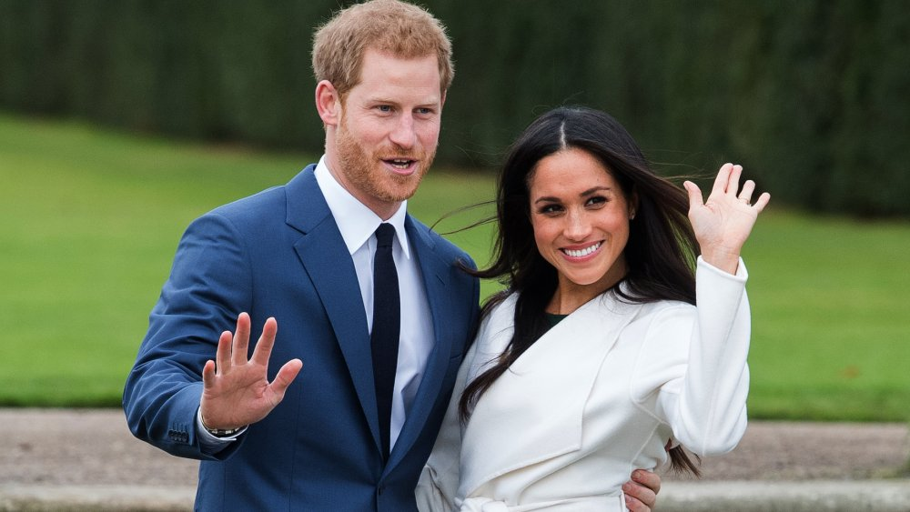 Meghan Markle and Prince Harry during their engagement announcement