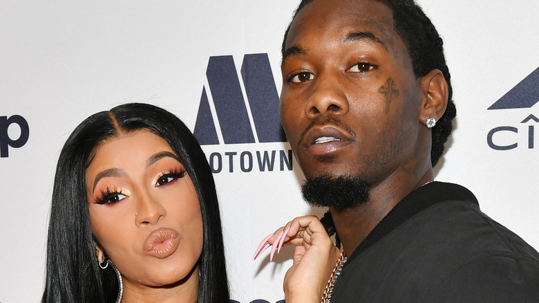Cardi B and Offset attending an event