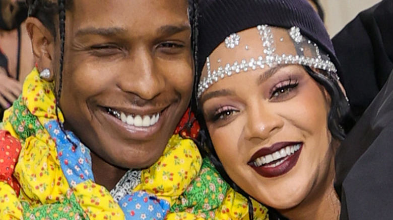 A$AP Rocky, Rihanna at Met Gala