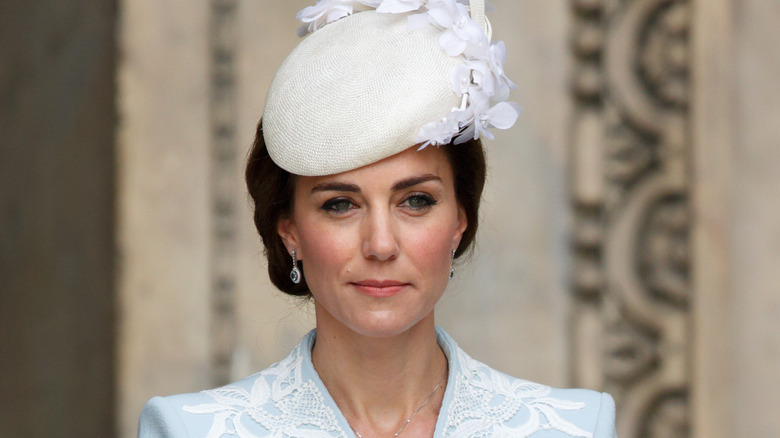 Kate Middleton, wearing one of her most inappropriate outfits