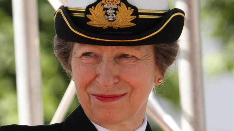 Princess Anne in a military outfit
