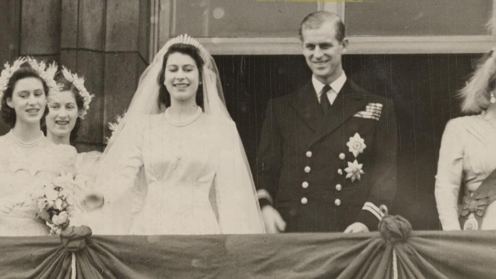 Queen Elizabeth as a bride