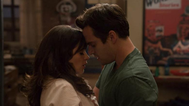 New Girl's Jess and Nick kiss