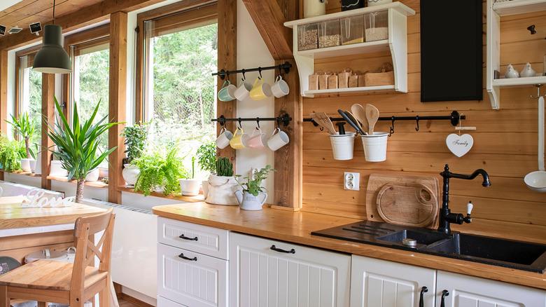 A bright kitchen