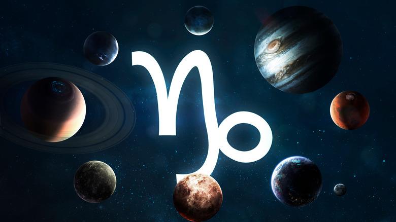 Capricorn sign in solar system