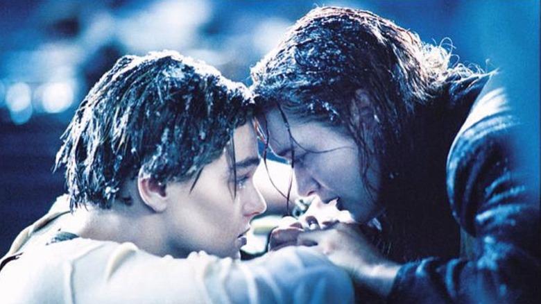 "Jack and Rose freezing in ""Titanic"""