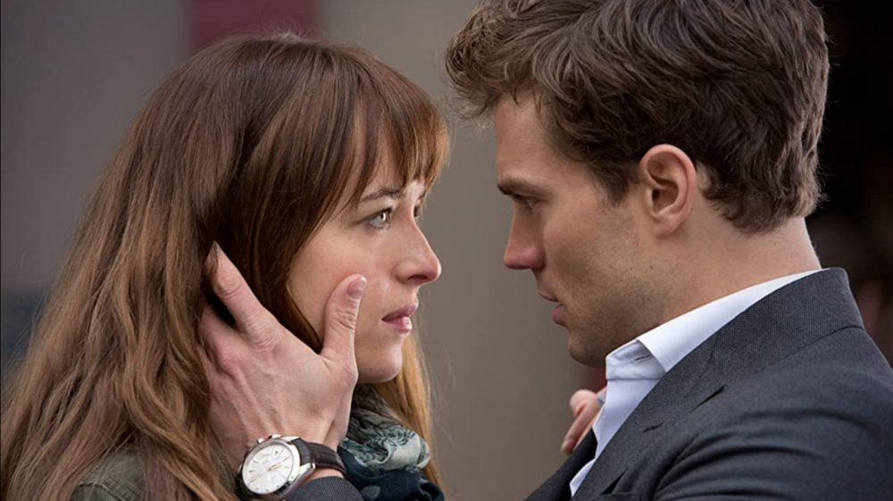 Dakota Johnson and Jamie Dornan in 50 Shades of Grey