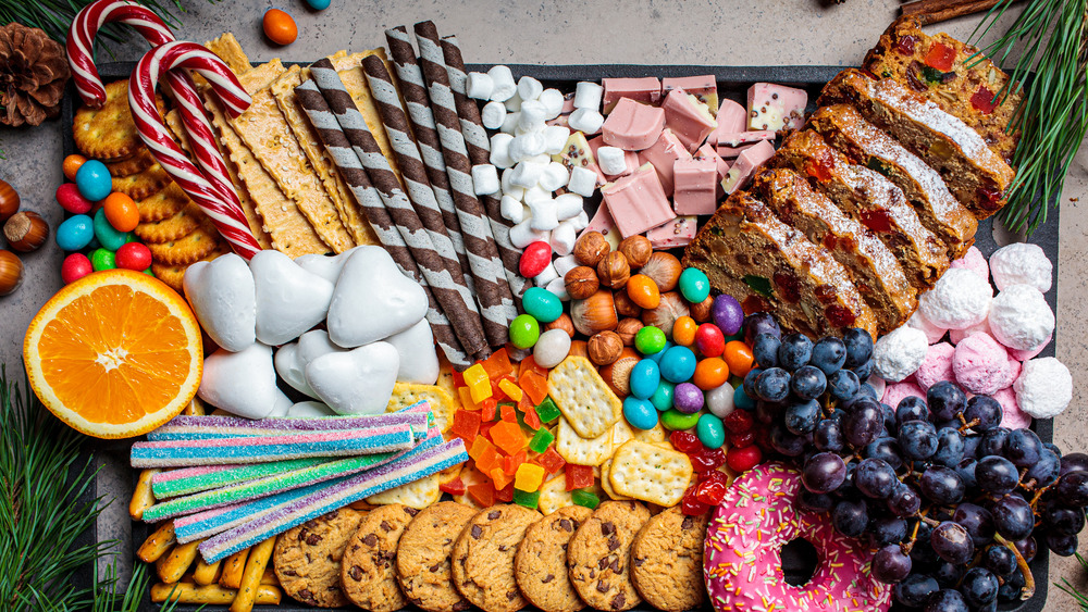 Candy on a tray