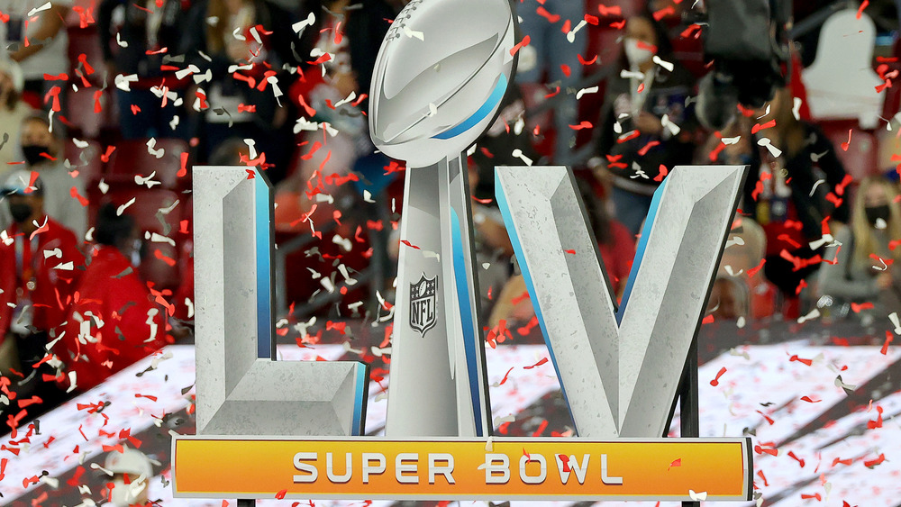 Super Bowl LV with confetti
