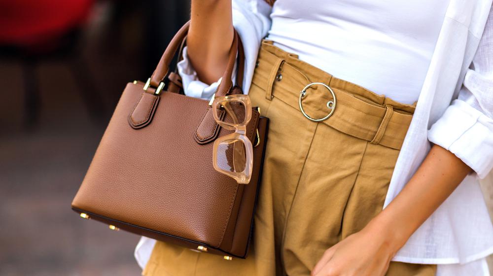 A purse over a woman's arm
